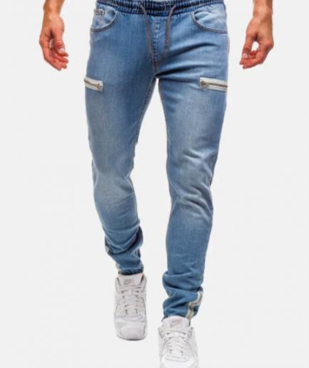 Calças-Jeans-Homem-azul-claro